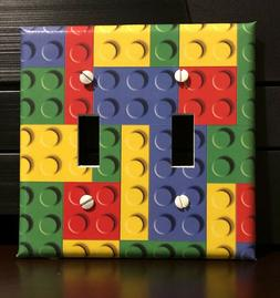 LEGO PIECES LIGHT SWITCH COVER PLATES OUTLET RED BLUE YELLOW