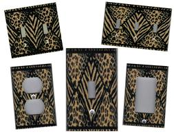 LEOPARD AND TIGER ANIMAL IMAGE HOME DECOR LIGHT SWITCH PLATE