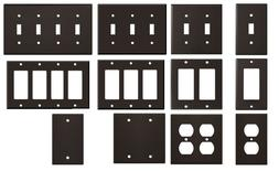 Light Gloss Brown Metal Wall Plate Covers Switch Plates & Ou
