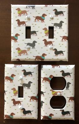 DOGS LIGHT SWITCH COVER PLATES DACHSHUNDS WEINER DOGS PUPPY
