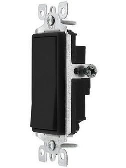 Leviton Light Switch, Decora Rocker Switch, 3Way Black