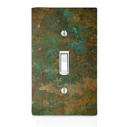 Light Switch Plate Cover Aged Copper Image Patina Wall Plate