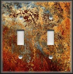 Light Switch Plate Cover Image Of Aged Copper Design Patina
