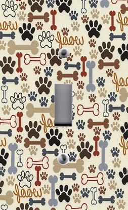Light Switch Plate Outlet Covers ~ ANIMAL PRINTS ~ DOG BONES