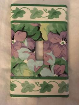 Light Switch Plates or Outlet Covers Waverly Sweet Violets A