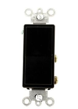 Leviton Light Switch, Decora Rocker Switch, 4Way Black