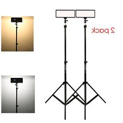 VILTROX video lighting kit,L132T LED Light with light Stand