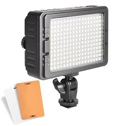 UTEBIT 204s LED Video Lights For Photography with 2 Flitters