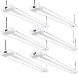 Amico 42W 6 Pack Linkable LED Utility Shop Lights, Double In