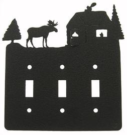 LODGE Triple Light Switch Plate Cover