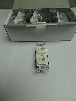 Lot of 10 White Double Wall Light Switch Duplex Toggle 15A S