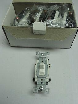 Lot of 10 White Heavy Duty Grounding 4-Way Toggle Wall Light