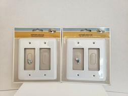 Lot of 2 Hampton Bay Declan 2 Rocker Wall Plate Light Switch