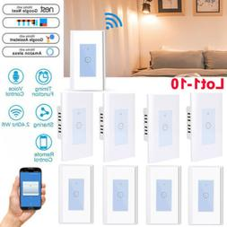 LOT WiFi Smart Light Switch Smart Life Wireless Control Voic