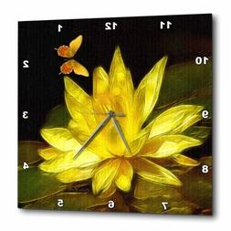 3dRose Lotus Blossom, Wall Clock, 13 by 13-inch