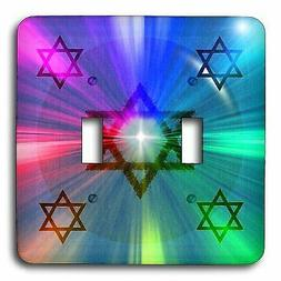 3dRose LSP_8337_2 LLC Star of David Energy Burst Double Togg
