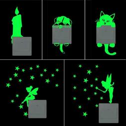 Luminous Switch Wall Stickers Cute Home Night Light Bedroom