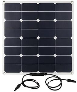 Lux 50 Watt Solar Panel by Bannock - Semi-flexible, Durable,