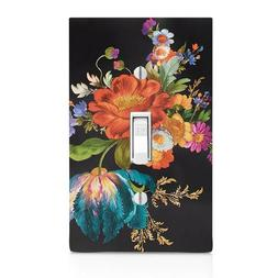 MacKenzie Black Floral Market Switch Cover, Outlet,Home Deco