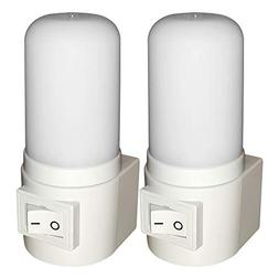 Maximm LED Manual On/Off Plug-in Night Light, Bright White,