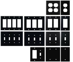 Matte Black Electrical Metal Wall Plate Covers Switch Plates