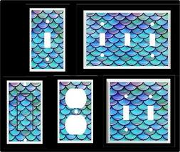 MERMAID TAIL FISH SCALES  LIGHT SWITCH COVER PLATE #1  HOME