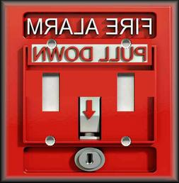 Metal Light Switch Plate Cover Fire Alarm Decor Firefighter