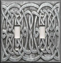 Metal Light Switch Plate Cover - Grey Home Decor Celtic Knot