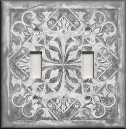 Metal Light Switch Plate Cover - Home Decor - Tuscan Tile Pa