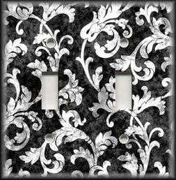 Metal Light Switch Plate Cover Leaves Vines Home Decor Desig