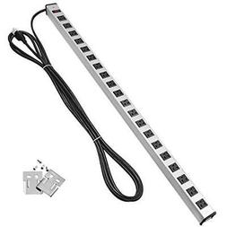 Metal Power Strip With 15-foot Ultra Long Extension Cord 20