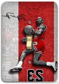 Michael Jordan Basketball Light Metal Switch Plate Cover Hom