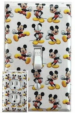 Mickey Mouse Single Toggle Decorative Light Switch Cover Out