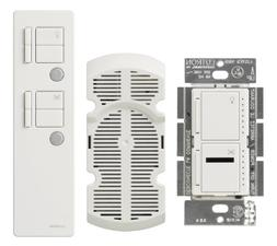 Lutron MIR-LFQMT-WH Maestro 300 Watt Dual IR Dimmer and Fan