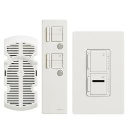 Lutron Maestro IR Fan Control and Light Dimmer for incandesc