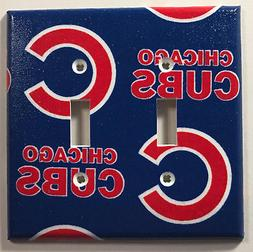 MLB Chicago Cubs Baseball Team Double Light Switch Plate Cov