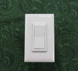 MOBILE HOME SELF CONTAINED DECORATOR  LIGHT SWITCH - WHITE