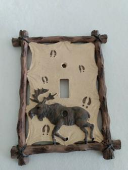 """Moose Light Switch Cover Plate Outlet 5"""" X 6.5"""""""