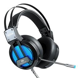 NUOXI N5 Stereo Gaming Headset,3.5mm Wired Over Ear headphon