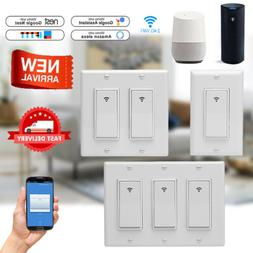 NEW 1/2/3 Gang Smart WiFi Wall Light Switch Timer For Amazon