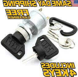 NEW Golf Cart Key Switch, 4 Terminal EZGO w/ factory light I