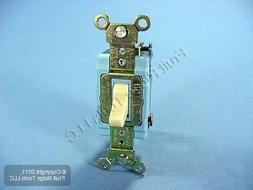 New Leviton Ivory INDUSTRIAL Grade 4-WAY Toggle Wall Light S