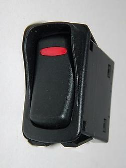 NEW Carling Momentary Rocker Switch with Guard - Black Red 1