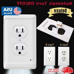 Night Wall  duplex outlet cover plate plug cover 3 LED light