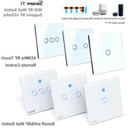 New Sonoff T1 1/2 Gang WiFi Touch Switch Home Wall Light Con