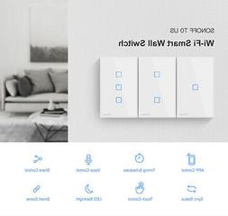 NEW SONOFF WiFi 1/2/3 Gang Smart Wall Light Switch Timer Voi