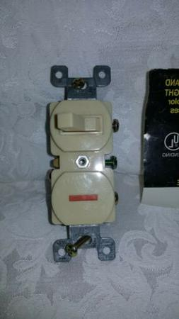 NOS MORRIS SWITCH & PILOT LIGHT 15A 120V BACK & SIDE WIRE IV
