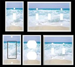 OCEAN WAVES WHITE CAPES  BEACH LIGHT SWITCH COVER PLATE   MU