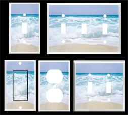 OCEAN WAVES WHITE CAPES  BEACH LIGHT SWITCH COVER PLATE