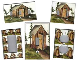 OUTHOUSE No.1 OUTHOUSE BATH HOME WALL DECOR LIGHT SWITCH PLA
